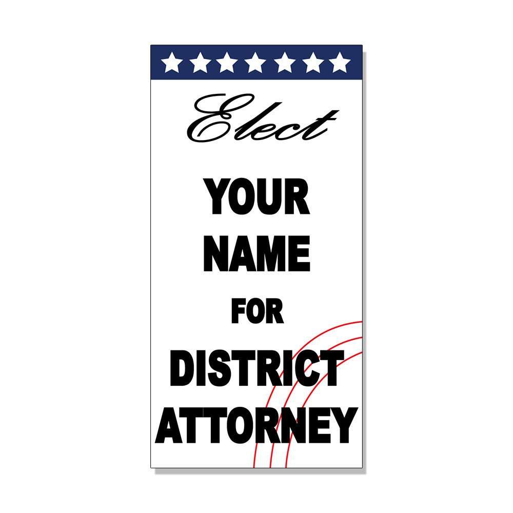 Amazon com elect your name for district attorney custom black blue decal sticker store sign sticks to any surface office products
