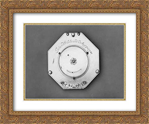 Johann Mathias Willebrand - 24x20 Gold Ornate Frame and Double Matted Museum Art Print - Portable Equatorial Sundial