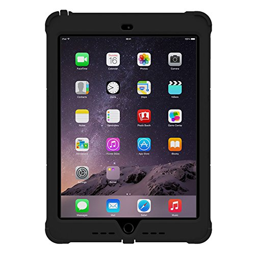 Apple Ipad Air 2, Trident Case [Strong Defense] Anti-microbial, Strengthened, Impact-resistant, Robust, Slim and Tough Build, Grip, Anti-skid, Black by Trident Case (Image #2)