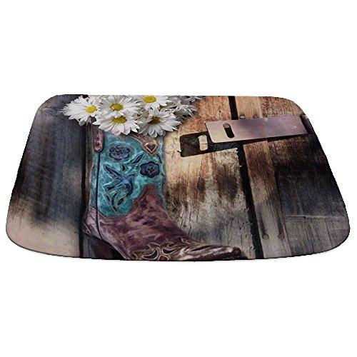 - CafePress Rustic Daisy Western Country Cowgirl Decorative Bathmat, Memory Foam Bath Rug