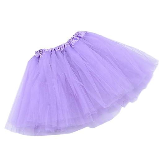 Chenpaif - Falda de tutú de tres capas para mujer, 12 colores ...