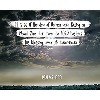 Amazon com: Bible Verse Wall Art for There The Lord bestows