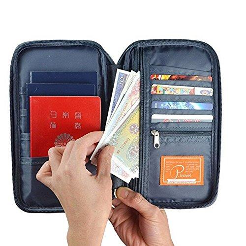 with Travel Passport Women For Credit card Strap Money Wallet wallet Gray Men CATOP Organizer Hand Organizer wallet Passport amp; nxEpXnSH