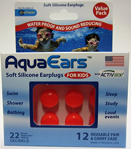 Aqua Ears® Kids Soft Silicone Earplugs 12 Pair ()