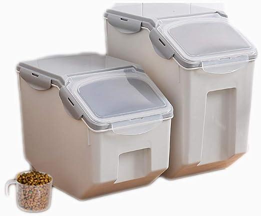 Almacenamiento de mascotas para perros caja de almacenamiento sellada caja de comida para gatos caja de almacenamiento a prueba de humedad tanque de almacenamiento sellado a prueba de humedad,S: Amazon.es: Hogar