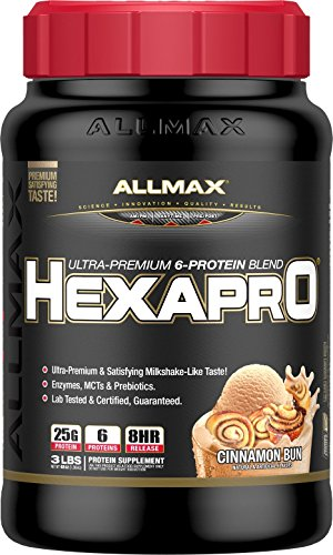 ALLMAX Nutrition Hexapro Protein Blend, Cinnamon Bun, 3 lbs