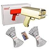DDGG Make It Rain Money Gun Cash Cannon - Cash Gun Funny Party Game Pistol Toy (Gold Gun)