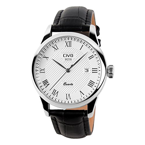 CIVO Men's Luxury Date Calendar Wrist Watches Men Casual Business Dress Waterproof...
