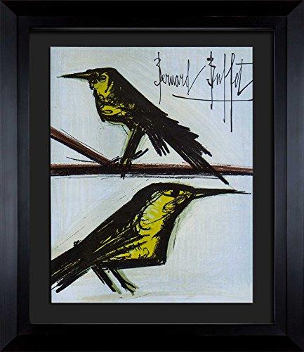Bernard Buffet (1928 - 1999 ) Original Signed Lithograph | Custom FRAME | Bird Couple | ARTdocs Registered Documentation + ARTsure