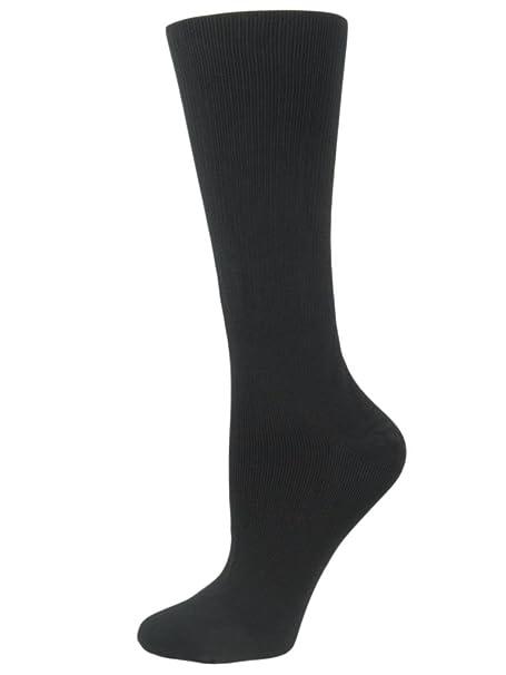 1 Pair of Quality Compression DVT Flight Travel Socks 6-8 uk Black Sockshop