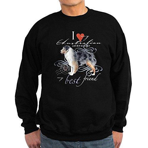 CafePress - Australian Shepherd Sweatshirt (Dark) - Classic Crew Neck Sweatshirt -