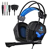 UL SADES SA807 Multi-Platform Gaming Headsets Headphones For New Xbox one PS4 PC Laptop Mac iPad iPod (Black&Blue) Review
