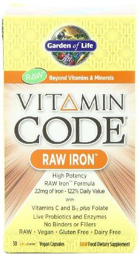 Garden of Life Vitamin Code fer à repasser, 30 Capsules