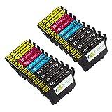 Colour-Store Remanufactured for epson 220 220XL Ink Cartridge, High Capacity, for Epson WorkForce WF-2760 WF-2750 WF-2630 WF-2650 WF-2660 XP-420 XP-424 Printer (20PK 8BK 4M 4Y 4C)