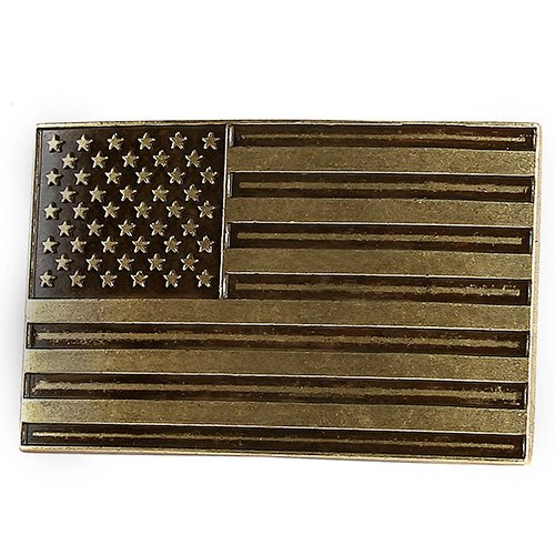 Leather Belt Buckle (NPET USA Flag Belt Buckle for Men Women (Fit 1.5