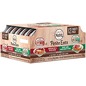 NUTRO Petite Eats Adult Wet Dog Food Variety Pack—Signature Beef & Potato, and Savory Lamb & Garden Variety Cuts in Gravy, 3.5 Ounce (24 Trays)