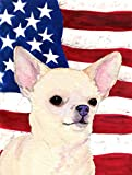Caroline's Treasures SS4228GF USA American Flag with Chihuahua Flag, Small, Multicolor Review