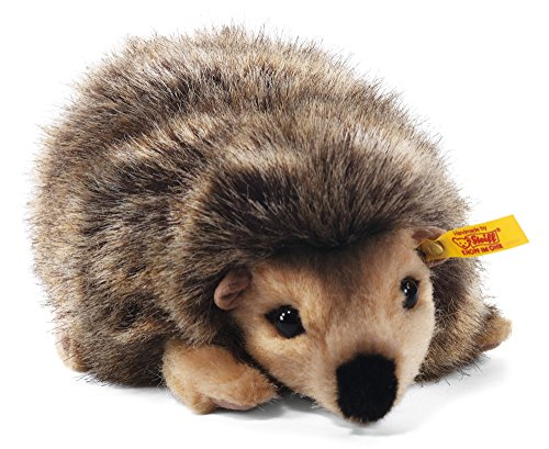 Steiff Joggi Hedgehog Stuffed Animal with Soft Woven Fur - Premium Plush Toy or Gift for Ages 3 and Up, Mottled Brown