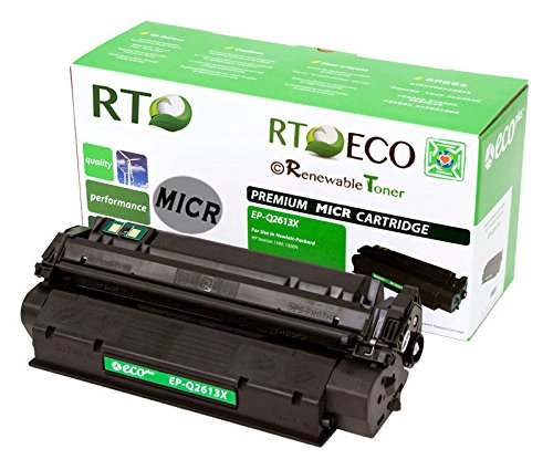 - Renewable Toner Compatible MICR Toner Cartridge High Yield Replacement for HP 13X Q2613X for use in Laserjet 1300 1300n 1300xi