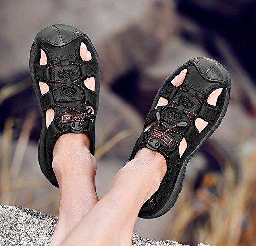De Randonnée Chaussures Vert Marche Fermées Cuir Plage Noir 38 48 Homme Été Extérieur Sandales Sport Marron 8HBqSS