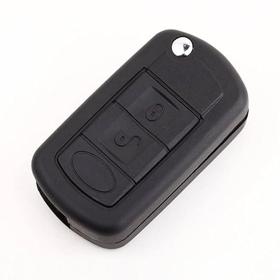 Caja de llave - SODIAL(R) Caja de llave Llavero Cascara de llave plegable del tiron remoto de entrada sin llave de 3 botones de reemplazo Compatible ...