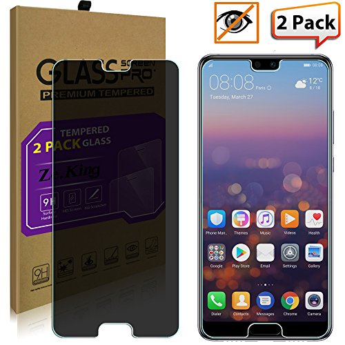 Zeking Anti-Glare Privacy Tempered Glass Screen Protector Compatible with P20-2 Pack