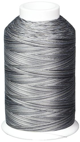 (YLI 24430V92 3-Ply Machine Cotton Quilting Variegated Thread, 3000 yd, London Drizzle)
