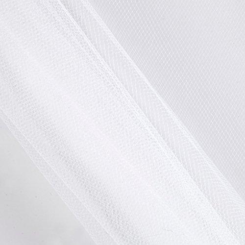 Falk Fabrics 0541953 54in Apparel Grade Tulle Silk White (Bolt, 50 Yard),