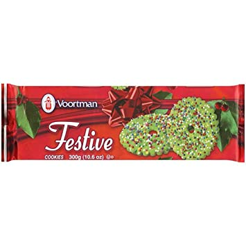 Voortman Green Festive Cookies 10 6oz Bag Pack Of 4