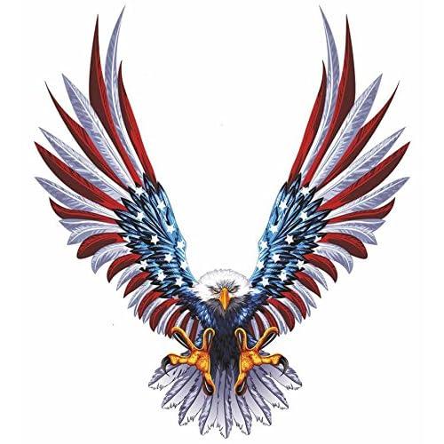 Autocollant sticker voiture moto aigle usa drapeau etats unis amerique casque