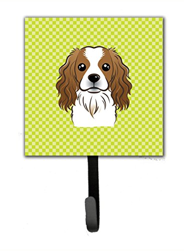 picture of Checkerboard Lime Green Cavalier Spaniel Leash or Key Holder BB1286SH4