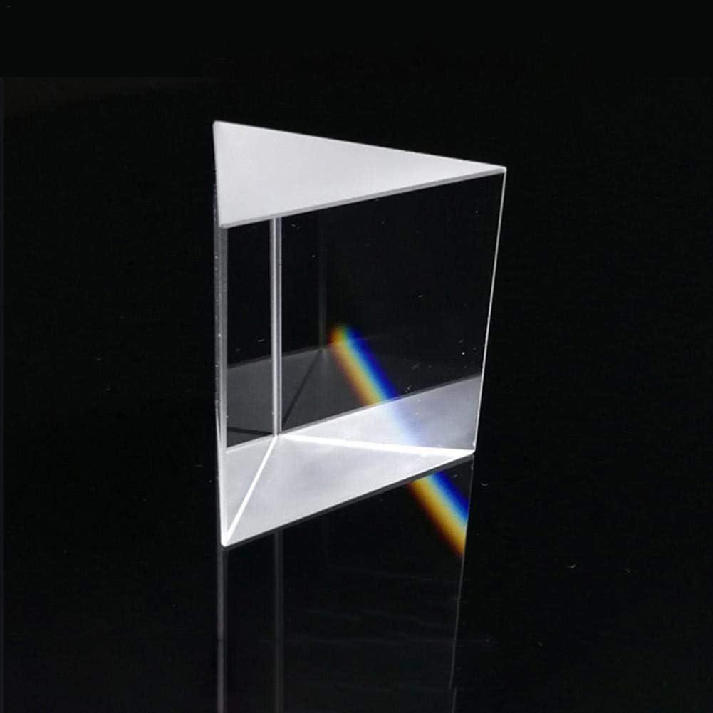 prismi isosceli a Prisma Lenti Materiale Ottico in Vetro Ottico K9 0.39x0.39x0.39in Lucky-all star 3 PCS Prismi triangolari in Vetro Ottico