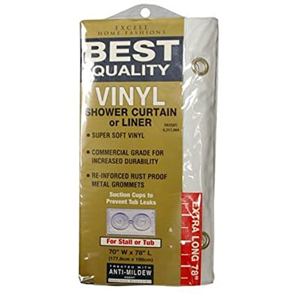 Ex Cell Home Fashions Best Quality 70quot By 78quot Vinyl Shower Curtain Liner