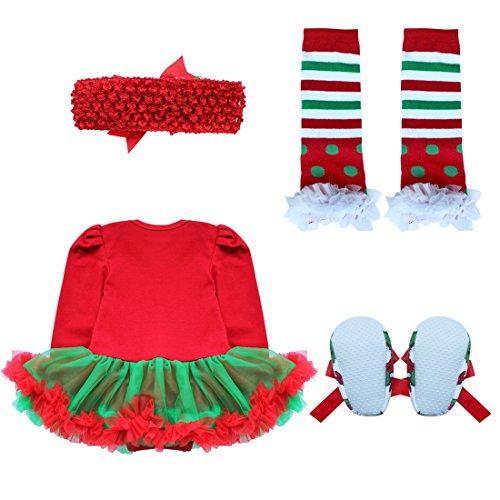 Bandeaux Né 0 Styles Déguisement 12 Nouveau Jambières Fille 12 Enfant Noël Grâce Fête Iefiel Chaussures Bébé Mois barboteuse 2 Style Ensembles Vêtements 8CqwOOf