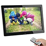 Digital Photo Frame,SSA 8 inch 1280 x 800 High Resolution Full IPS Photo/Music/Video Player Calendar Alarm Auto On/Off Timer, Unique Interface Design with Remote Control (8' IPS)
