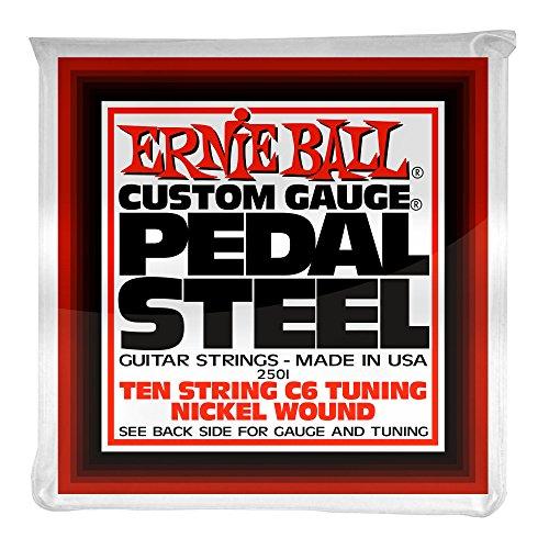 Ernie Ball Pedal Steel Nickel Wound 10-string Set, C6 Tuning -