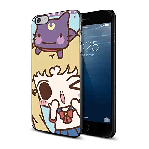 Best Character Costumes Of All Time (Sailor Moon Purse Tsukino Usagi Luna Artemis Cat Cartoon for Iphone and Samsung Galaxy Case (iPhone 6/6s black))