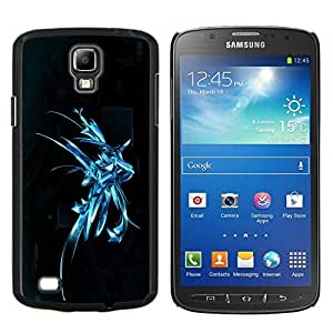 "Be-Star Único Patrón Plástico Duro Fundas Cover Cubre Hard Case Cover Para Samsung i9295 Galaxy S4 Active / i537 (NOT S4) ( Fresca del arte abstracto de plata Splash"" )"