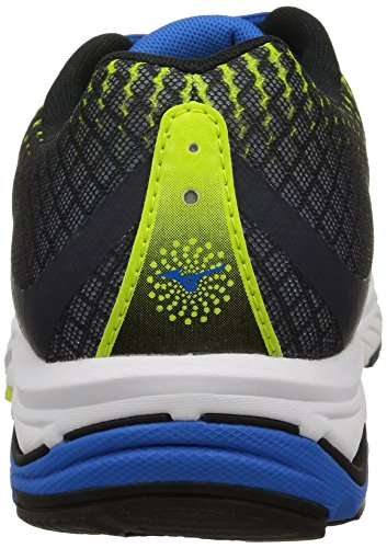 Mizuno Wave Elevation, Scarpe Sportive, Uomo Limepunch/Electricbluelemonade/Black