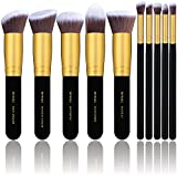 Kyпить BS-MALL(TM) Makeup Brushes Premium Makeup Brush Set Synthetic Kabuki Cosmetics Foundation Blending Blush Eyeliner Face Powder Brush Makeup Brush Kit (10pcs, Golden Black) на Amazon.com