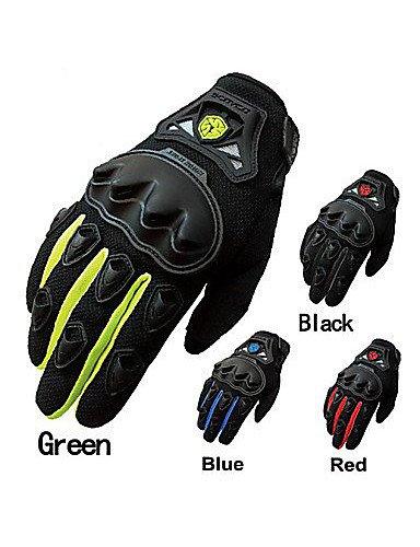 ZWC Motorcycle ATV Racing Full-Finger Anti-Slip Motorcycle Gloves-Scoyco , black-xl , black-xl