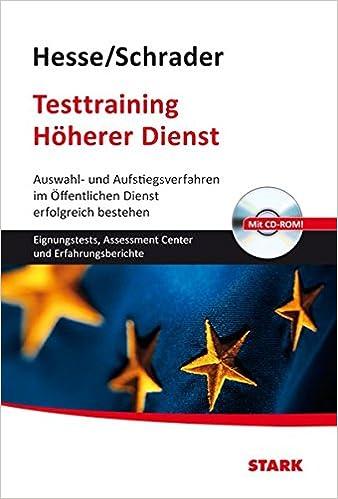 Hesseschrader Testtraining Höherer Dienst Jürgen Hesse Hans