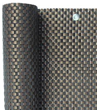 Smart Deko pl/ástico Protector visual y paravientos de polirrat/án para balcones y jardines 200x90cm color marr/ón cobre