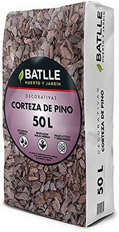 Sustratos - Sustrato Corteza Pino 50l. - Batlle: Amazon.es: Jardín