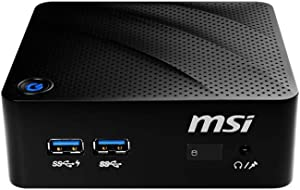 MSI CubiN-8GL-010US Mini PC Intel UHD 605 Graphics Pentium Silver N5000 4GB RAM 32GB SSD + 500GB HDD Win 10 Pro