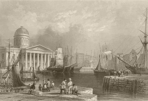 Amazon Com Canning Dock And Custom House Liverpool Bartlett 1842 Old Print Antique Print Vintage Print Art Picture Prints Of Lancs Posters Prints