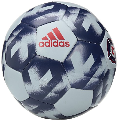 MLS Chicago Fire Authentic Soccer Ball, Size 5, Gray