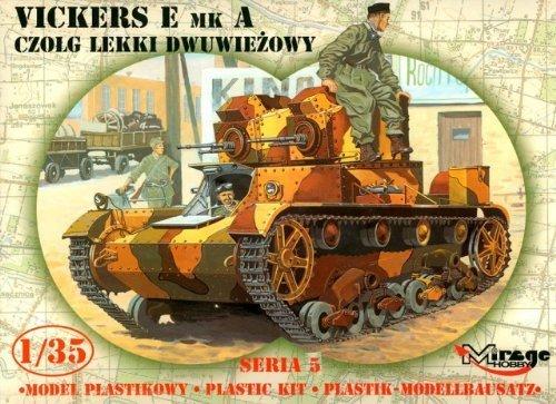 Mirage Hobby 35303, 1:35 échelle,VICKERS E Mk.A - deux Tours tank, kit de modèle en plastique