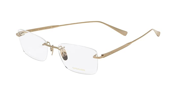 8ddfcef46ab3 Image Unavailable. Image not available for. Colour: CHOPARD TITANIUM MATT  GOLD RIMLESS FRAME