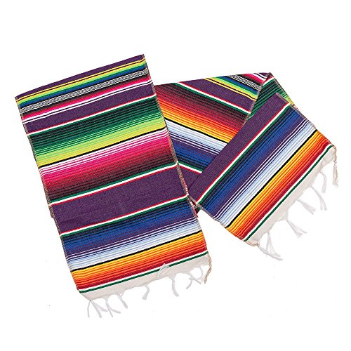 M MISS FANTASY Mexican Serape Table Runner Cinco De Mayo Decorations Blanket Fiesta Table Runner -